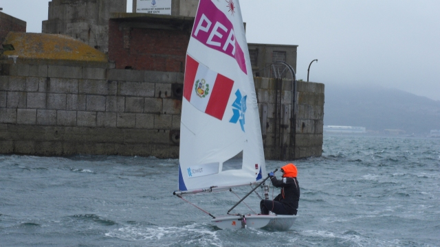 Peruvian Laser Radial - Paloma Schmidt before racing